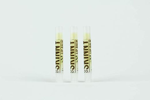 SKINNY and CO. Lip Balm Tube - New 3 Pack Chemical Free Quick Absorbing and Deeply Hydrating (Vanilla)