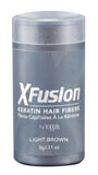 XFusion Travel Size (3g) Keratin Hair Fibers, Light Brown