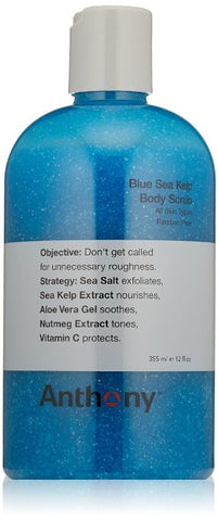 Anthony Blue Sea Kelp Body Scrub, 12 oz