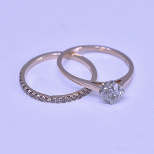 rose gold and grey diamond rings
