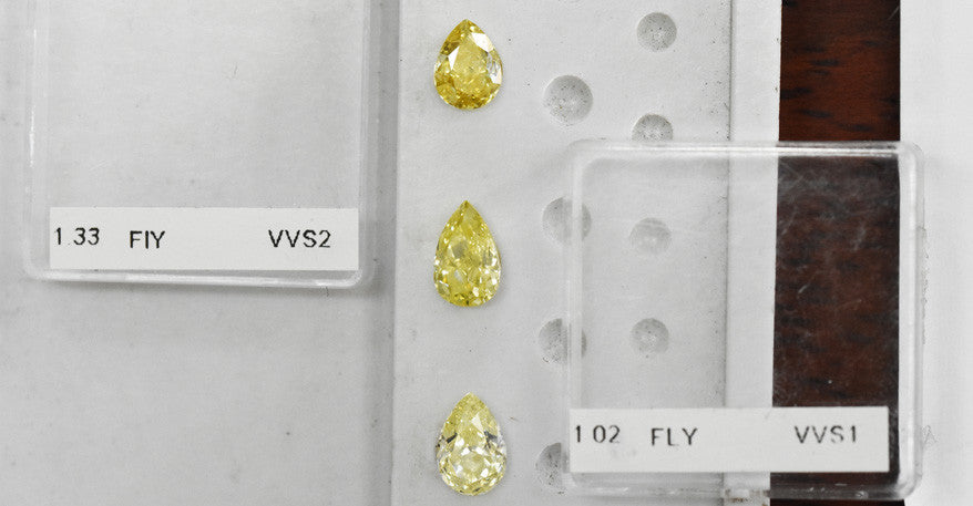 yellow diamond colour scale