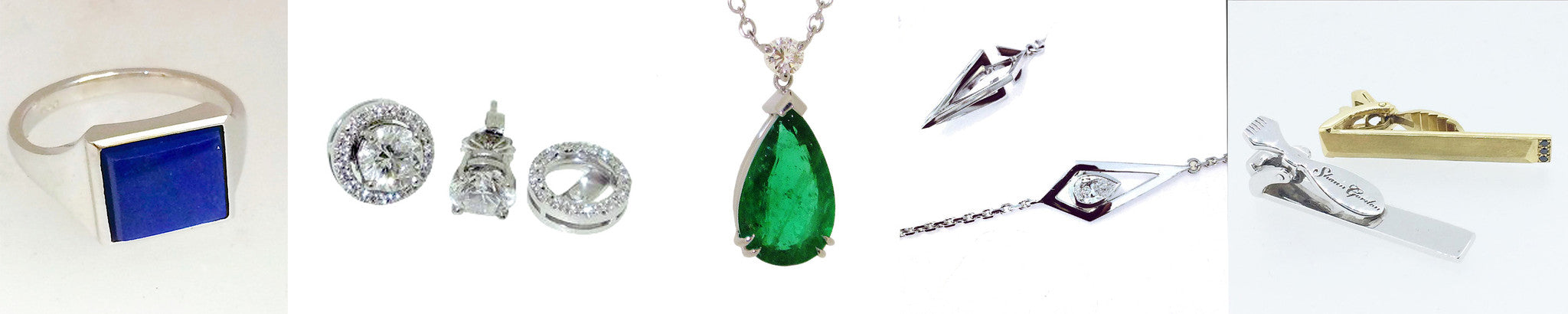 Fine custom diamond and gemstone jewellery made to order  bespoke image gallery