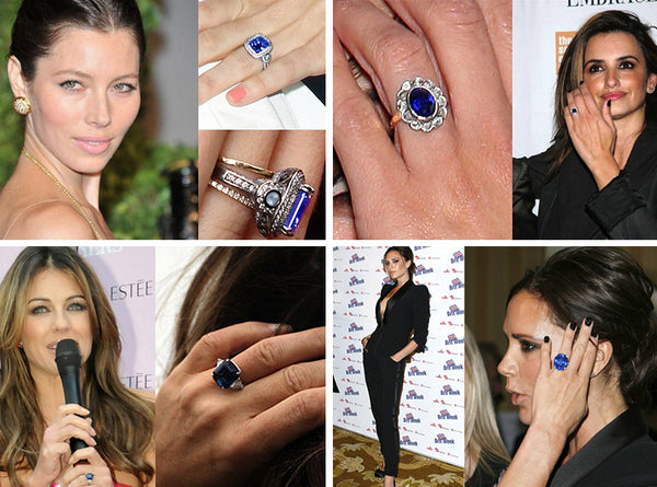 Celebrity sapphire engagement rings