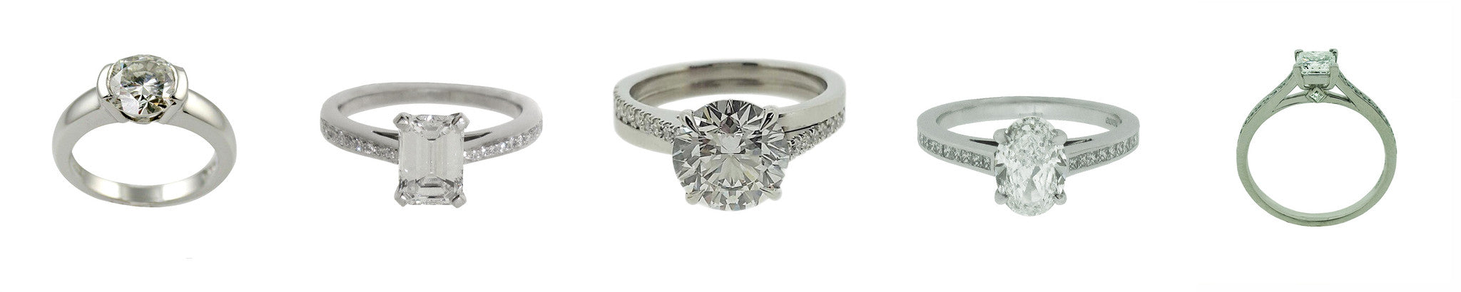 Diamond solitaire fine engagement rings, bespoke image gallery