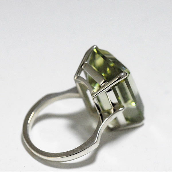 Emerald Cut Quartz Cocktail Ring