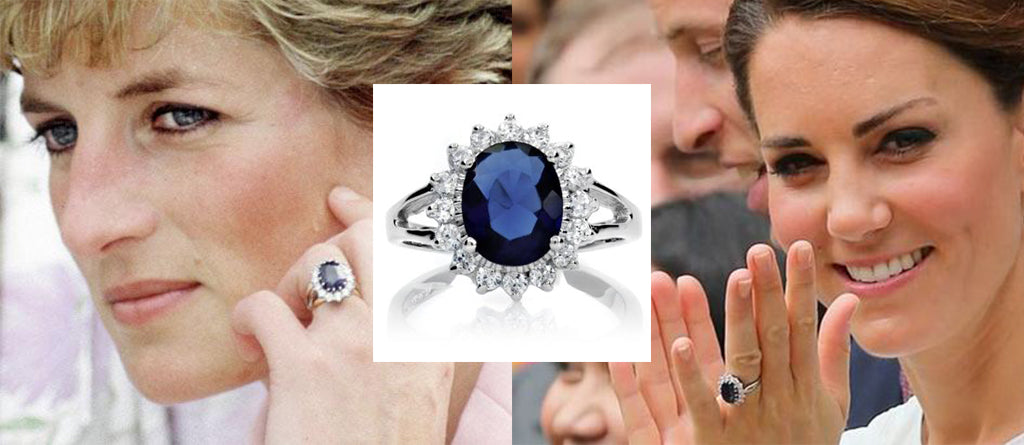 Royal jewellery, Lady diana sapphire engagement ring