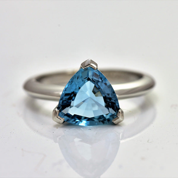 Trillion Cut Aquamarine Solitaire
