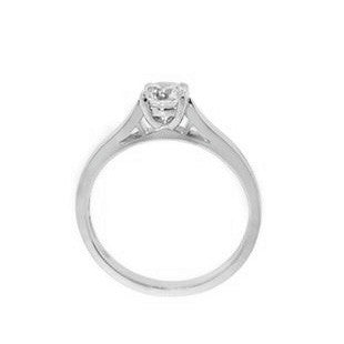 white gold diamond engagement ring design