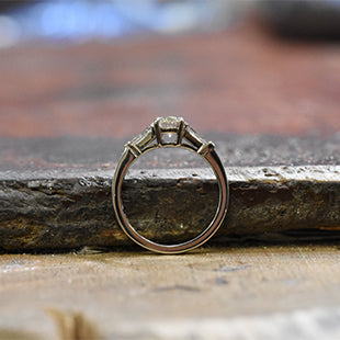 platinum engagement ring handmade hatton garden workshop