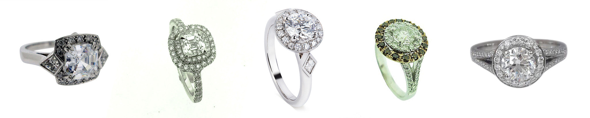 Diamond halo engagement ring bespoke image gallery