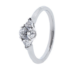 oval diamond with diamonds on the band engagement ring