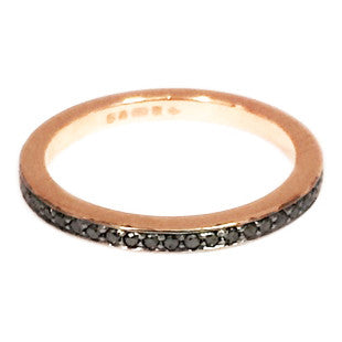 rose gold and black diamond eternity ring