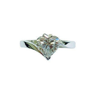 Heart Shaped Diamond Solitaire in Twisted Shank