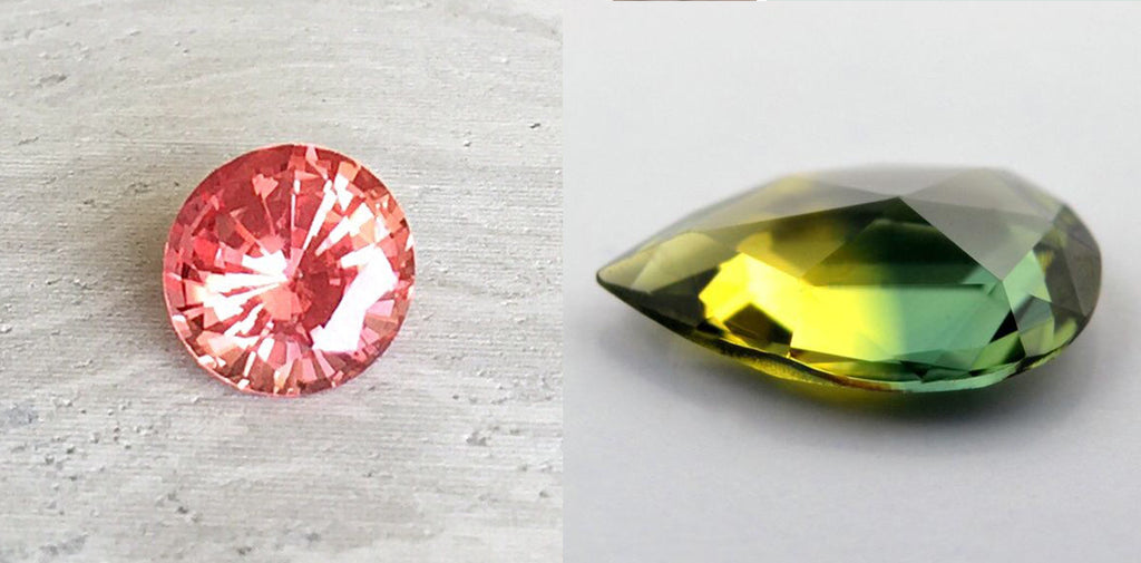 padparadscha sapphire and natural australian sapphire