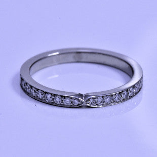 platinum pinched diamond eternity ring