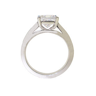 ring profile diamond ring