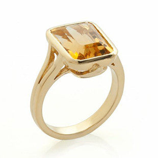 citrine ring yellow gold