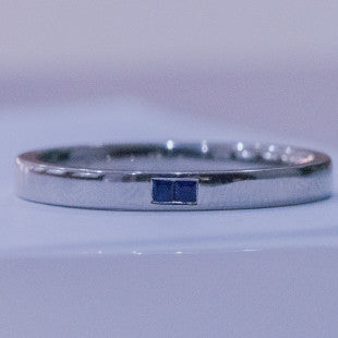 gents sapphire and platinum wedding ring