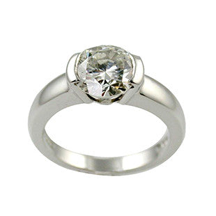 Chunky Tension Set Diamond Engagement Ring