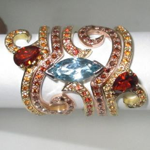 baileys ring , ruby on rose gold band