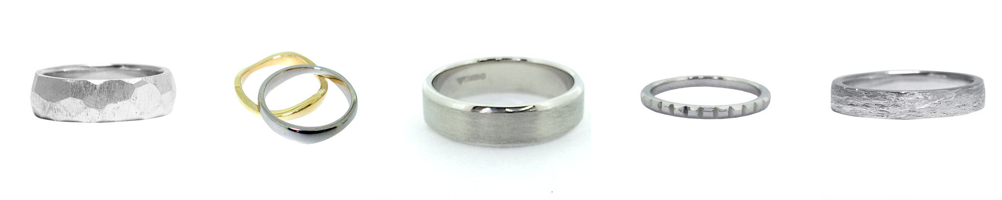 Bespoke image gallery of handmade wedding rings