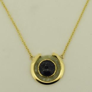yellow gold gemstone pendant