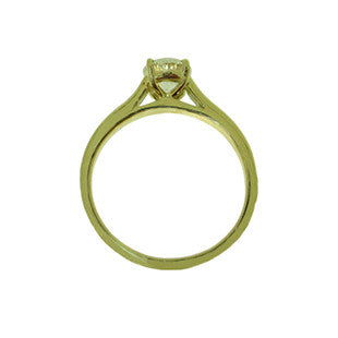 Side view of Solitaire Diamond Engagement Ring in 18ct Yellow Gold