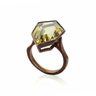 yellow sapphire ring in gold