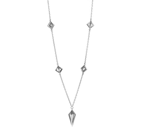 Silver Asaya Necklace-Necklaces-London Rocks Jewellery