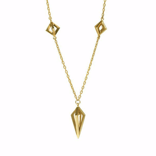 Gold Asaya Necklace-Necklaces-London Rocks Jewellery