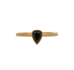 Black Pear Shape Diamond Ring