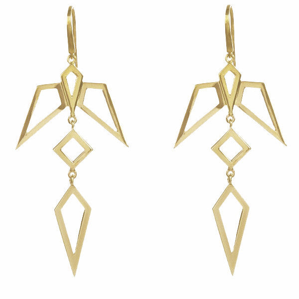 Gold Condor Earrings-Earrings-London Rocks Jewellery