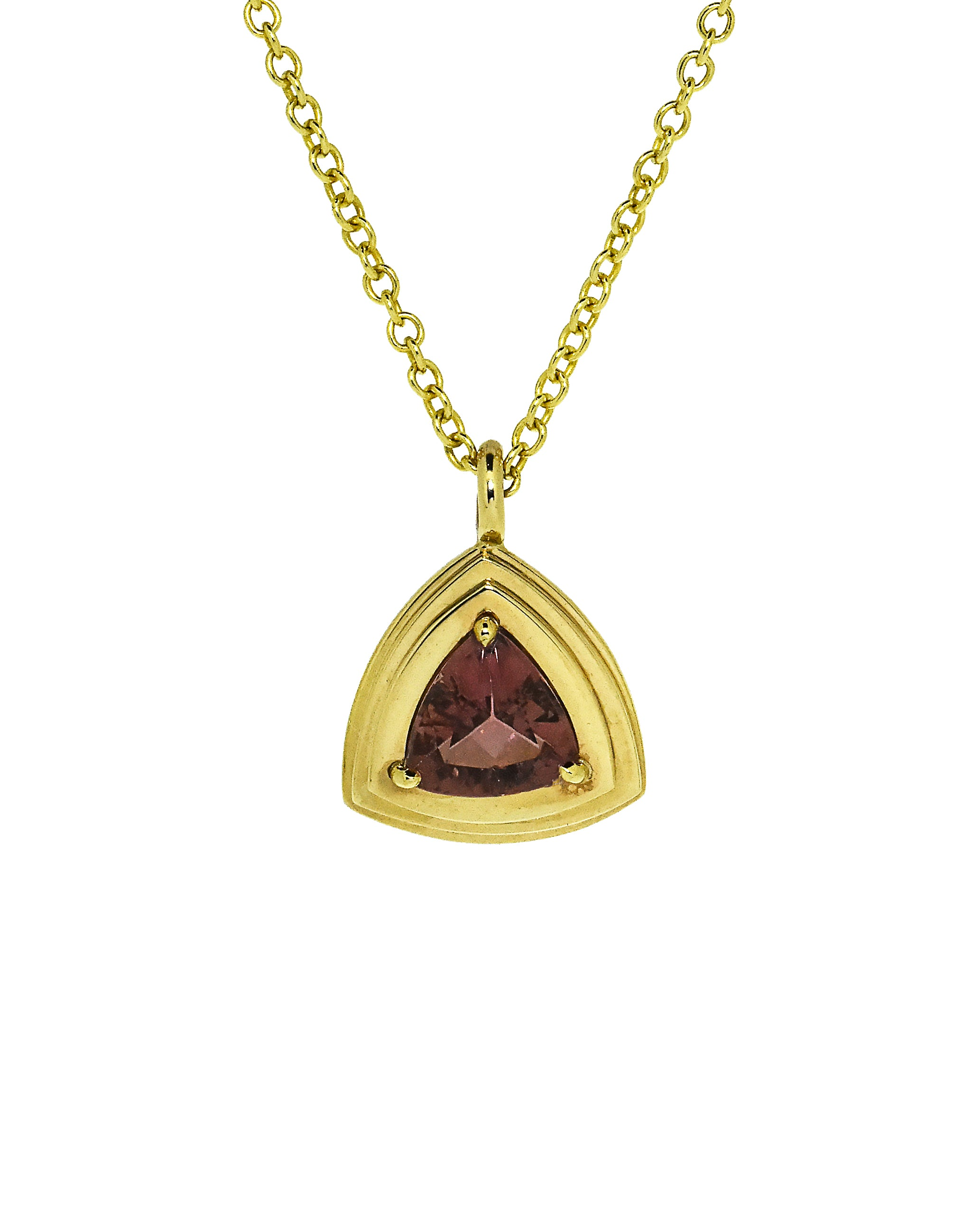 Trillion Tourmaline Layered Pendant