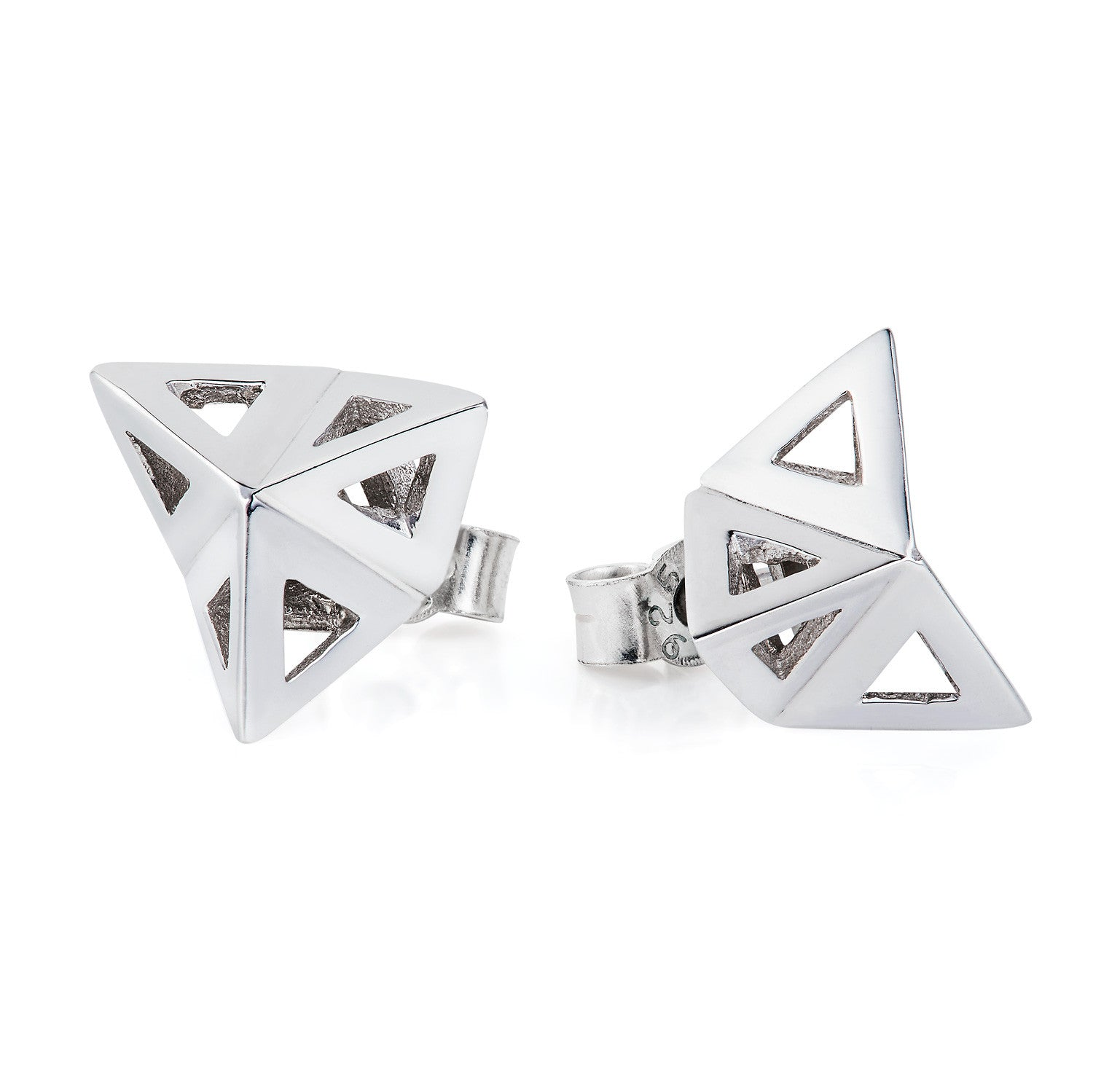 Prism studs silver-earrings-London Rocks Jewellery