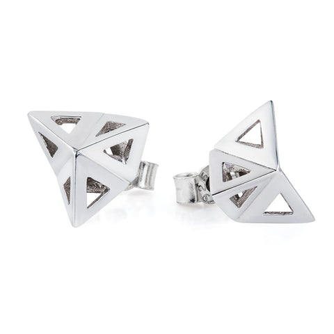 Prism studs silver