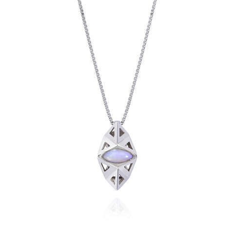Prism Moonstone Pendant-necklace-London Rocks Jewellery