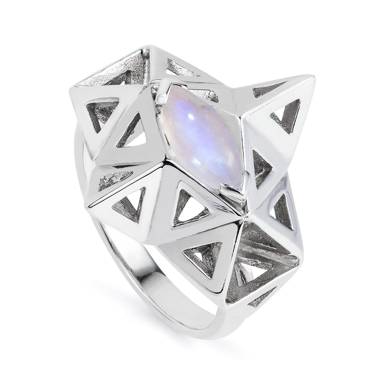 Large Prism Moonstone Ring-Rings-London Rocks Jewellery