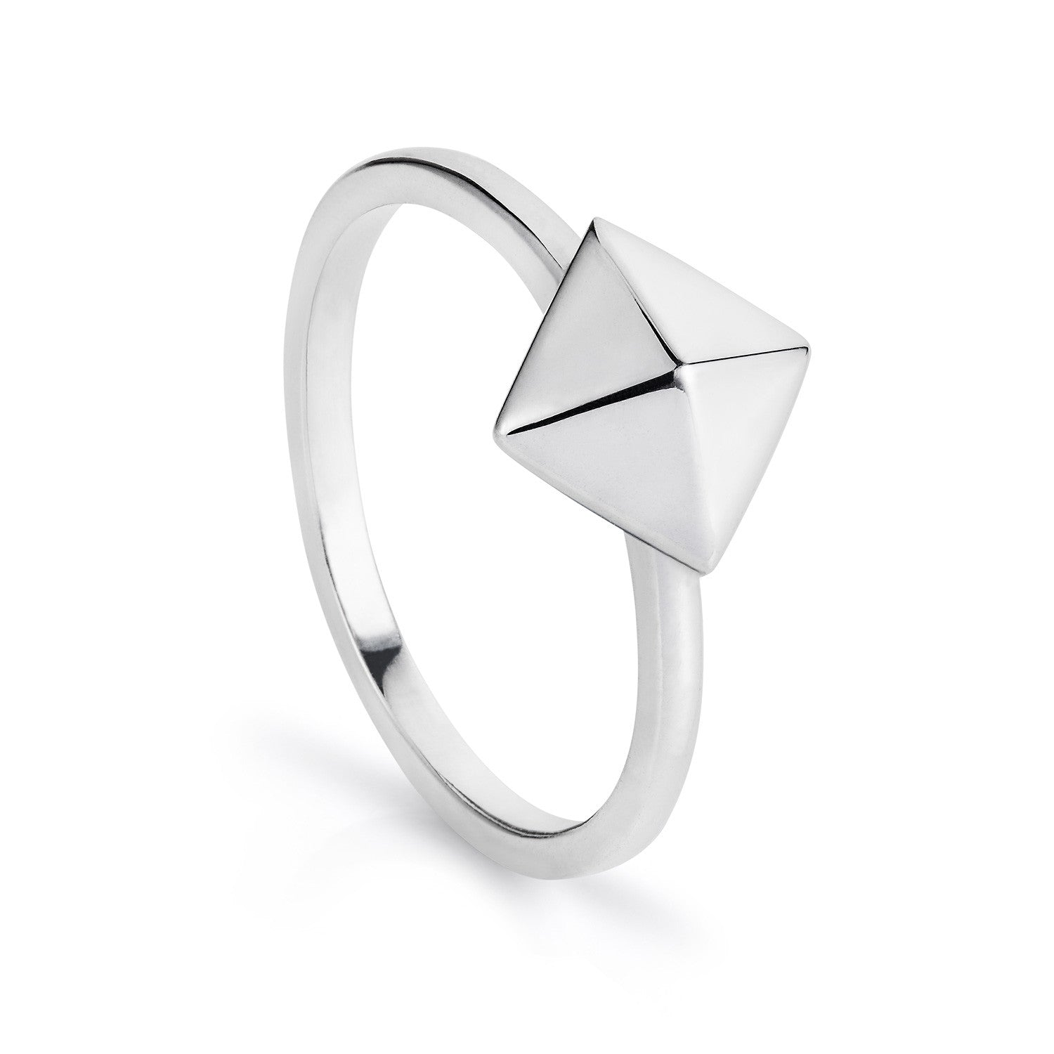 Silver Pyramid Ring-Rings-London Rocks Jewellery