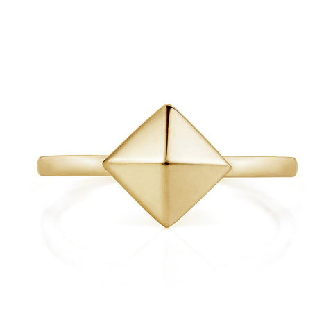 Gold Pyramid Ring-Rings-London Rocks Jewellery
