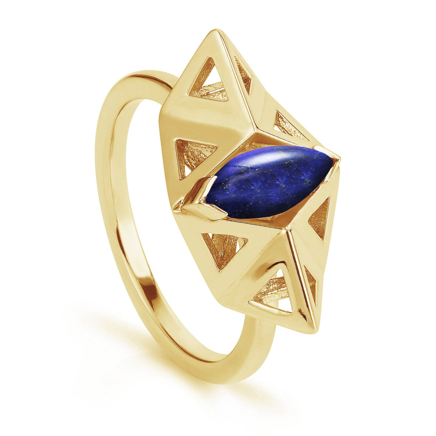 Small Prism Lapis Ring-Rings-London Rocks Jewellery