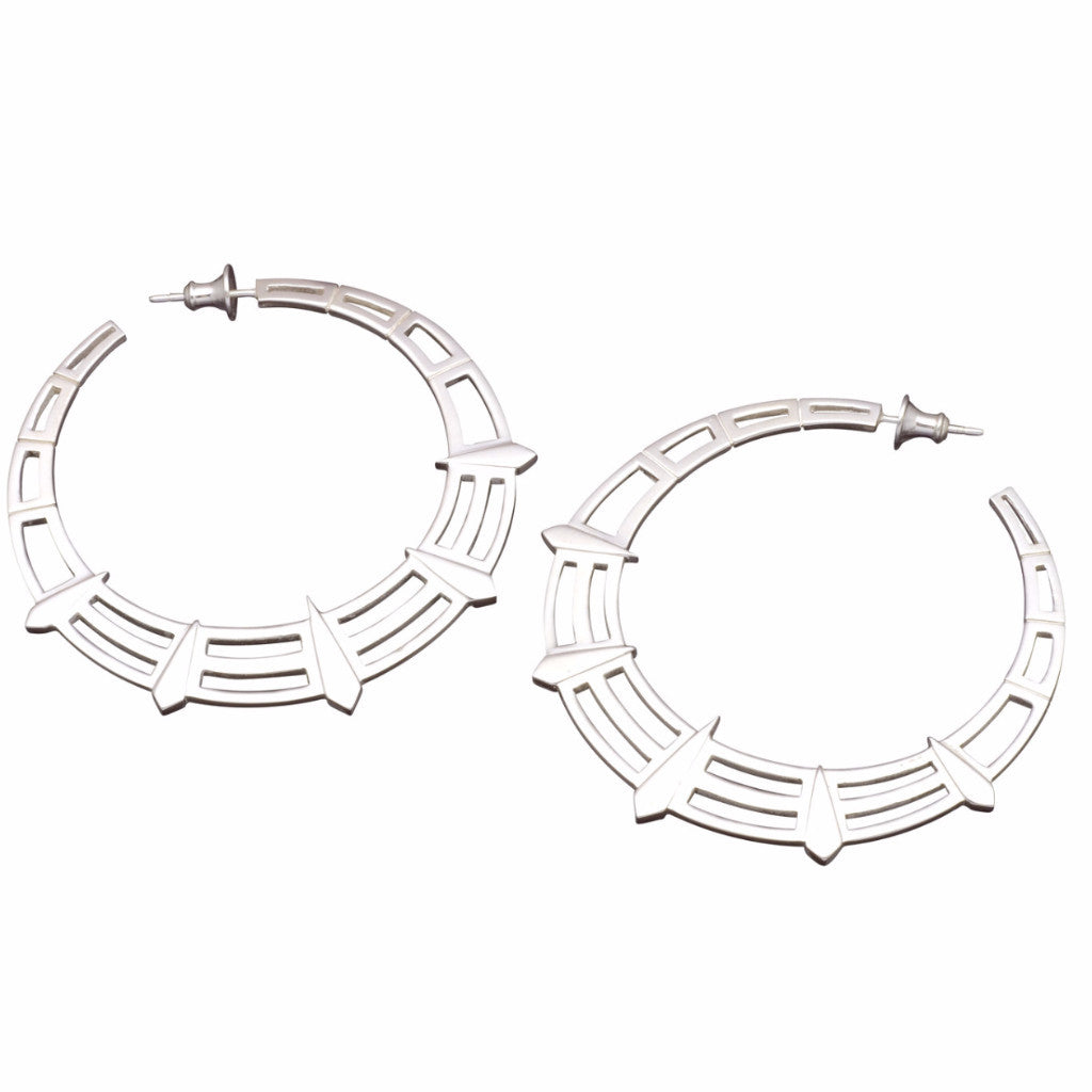 Silver Liberty Hoops-earrings-London Rocks Jewellery