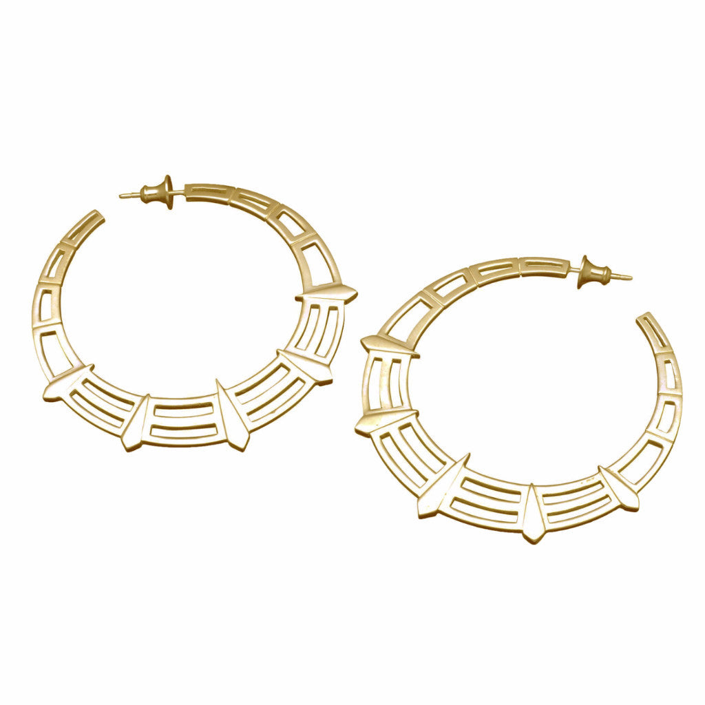 Gold Liberty Hoops
