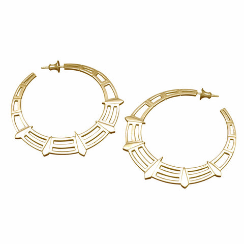 Gold Liberty Hoops-Earrings-London Rocks Jewellery