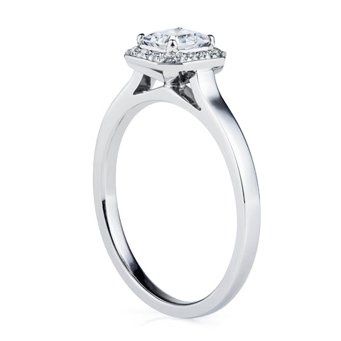 Oval Cut Halo Diamond Ring-Rings-London Rocks Jewellery