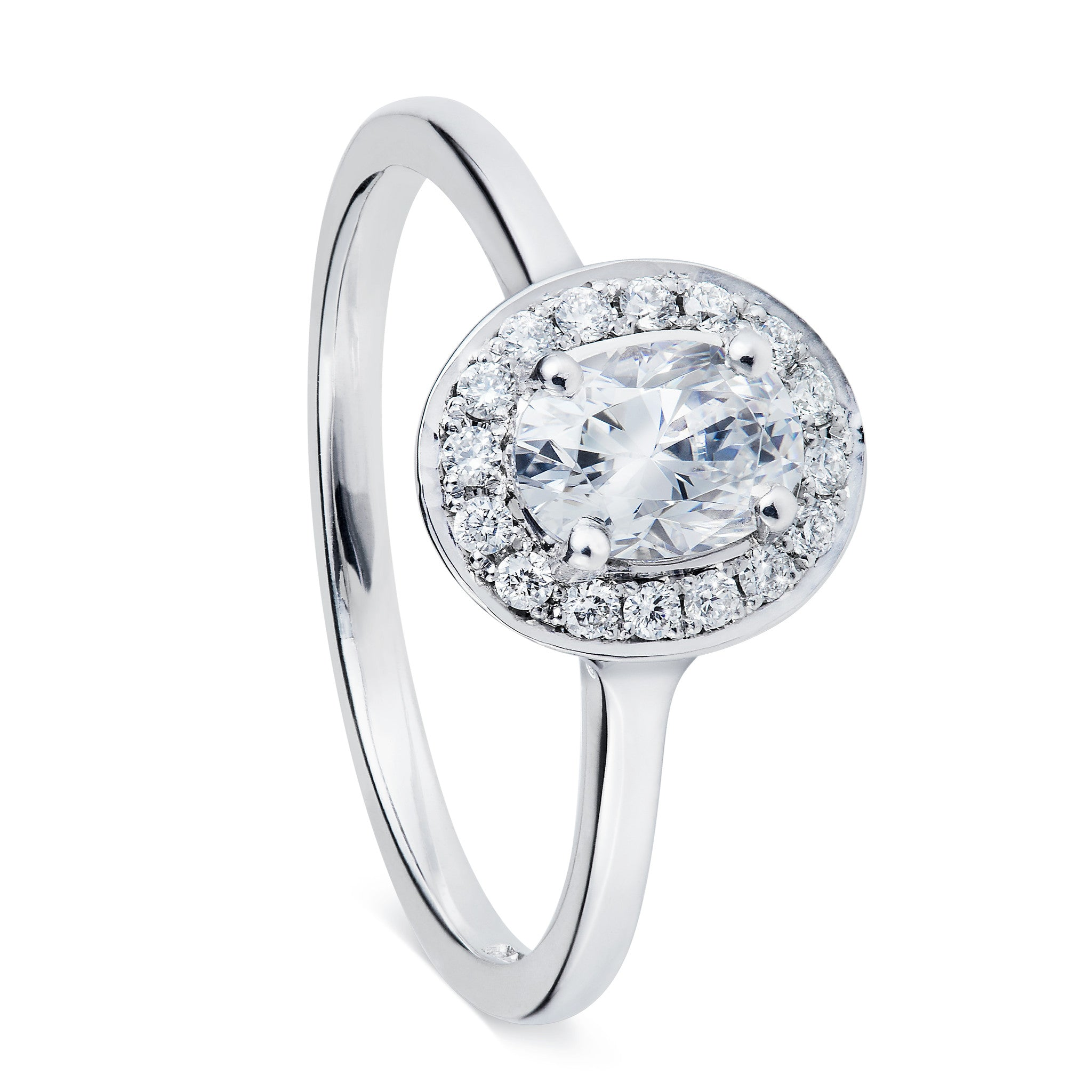 setting ring cut style from oval in diamond vintage pin