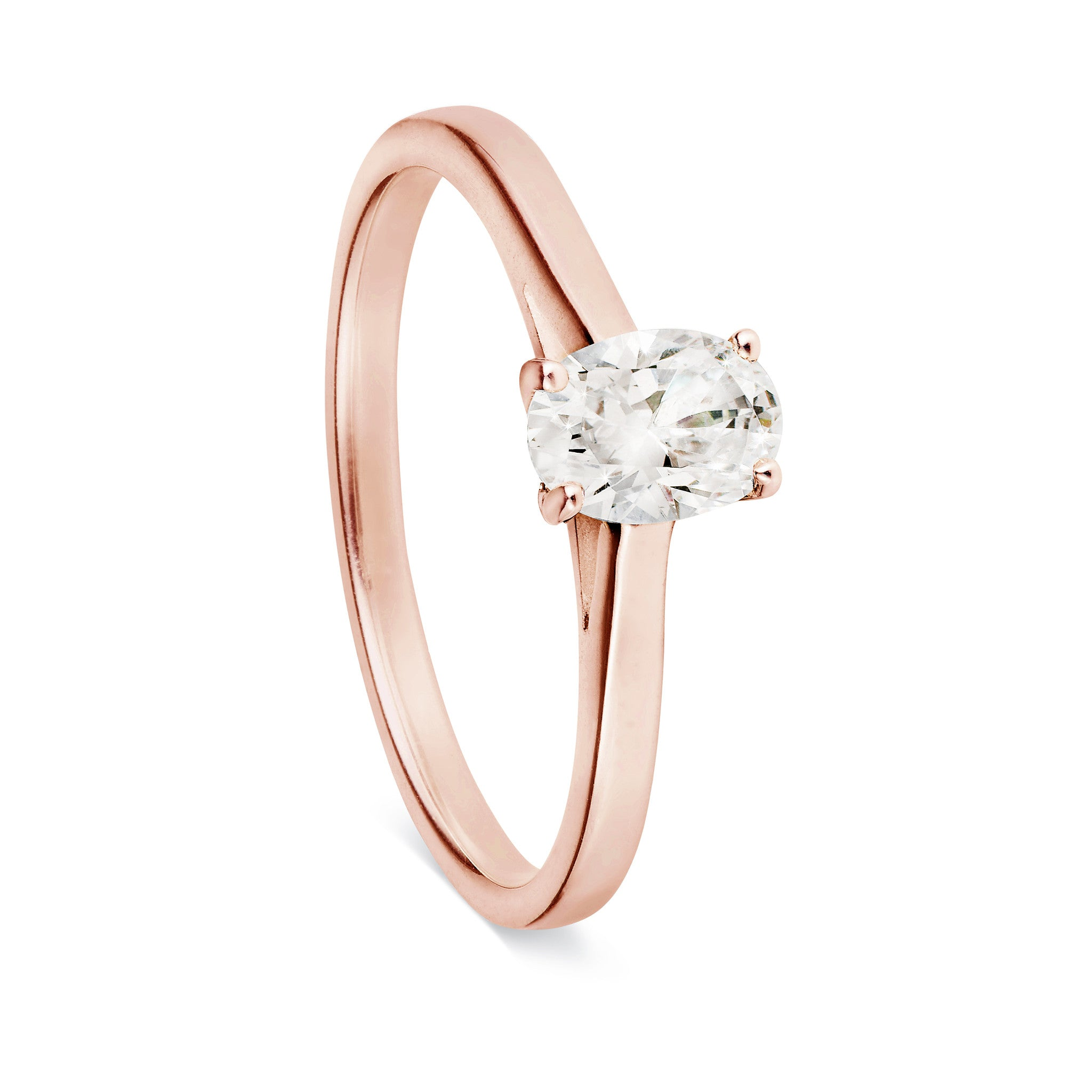 Oval Cut Solitaire Ring-Rings-London Rocks Jewellery