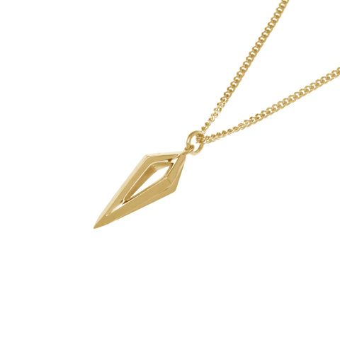 Gold Pendulum Pendant-Pendant-London Rocks Jewellery