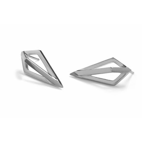 Silver Pendulum Studs-Earrings-London Rocks Jewellery