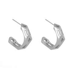 Silver Metric Hoops-Earrings-London Rocks Jewellery