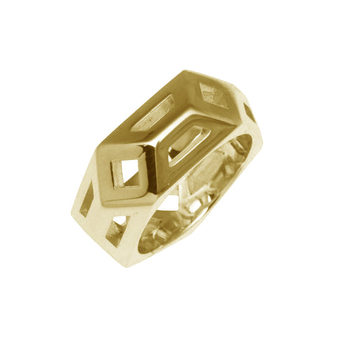 Gold Metric Ring-Rings-London Rocks Jewellery